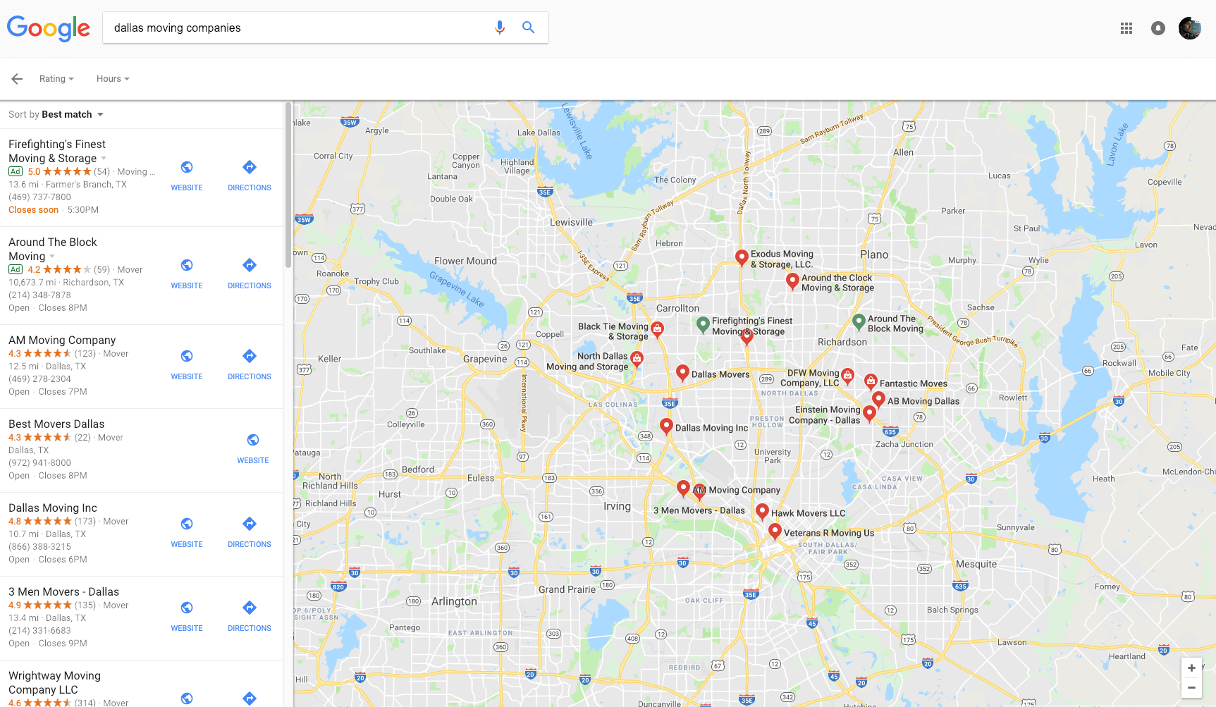 Local Search Result in Google