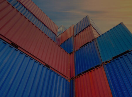 Image of shipping containers stacked up