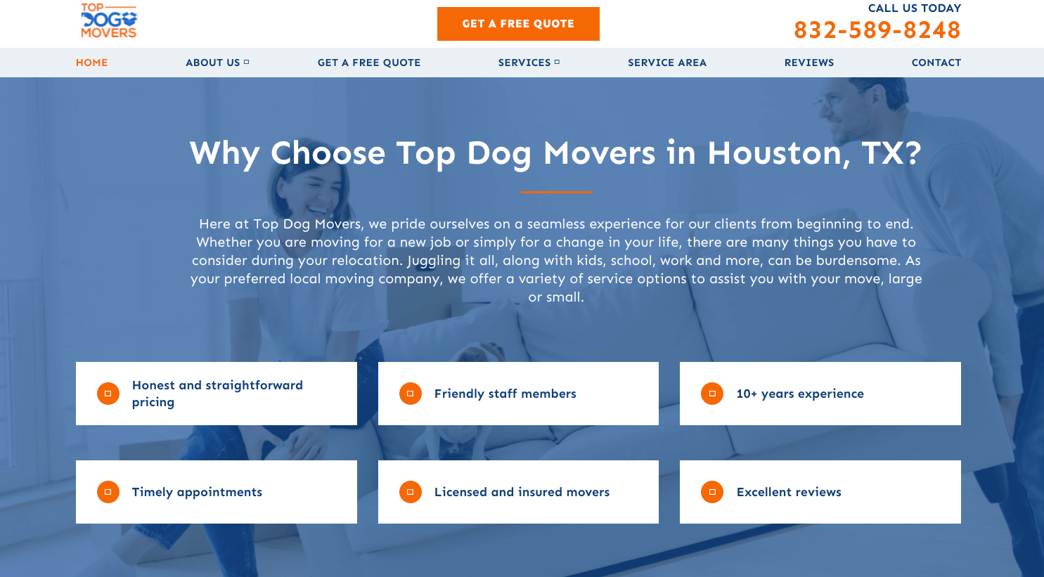 Top Dog Movers Home Page