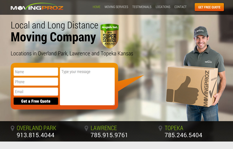 Moving Company Responsive Website